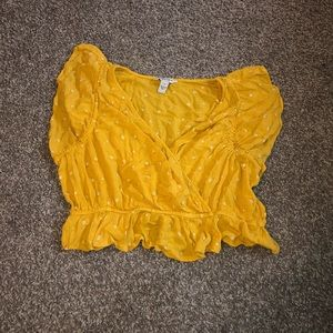 Yellow Cropped Blouse